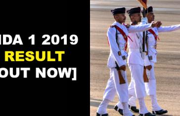 NDA 1 2019 Result