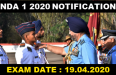 NDA 1 2020 NOTIFICATION