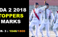 NDA 2 2018 TOPPERS MARKS