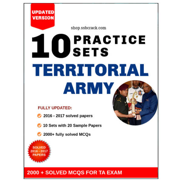 Territorial Army Question Paper 2012 - 2019 [Original]