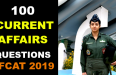 100 CURRENT AFFAIRS QUESTIONS AFCAT 2019