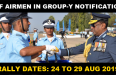 IAF GROUP Y AUG NOTIFICATION