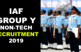 IAF GROUP Y NON-TECH RECRUITMENT 2019