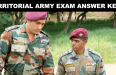 TERRITORIAL ARMY EXAM ANSWER KEYS
