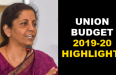 Union Budget 2019-20 HIghlights