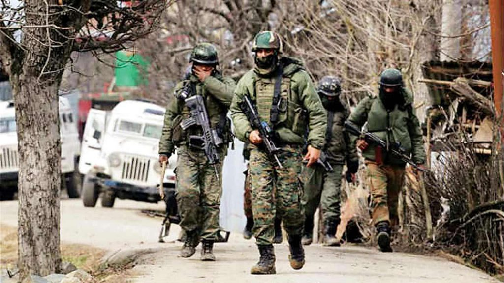 Rashtriya Rifles Soldiers Patrolling The Valley