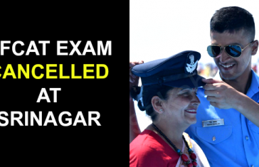AFCAT EXAM CANCELLED AT SRINAGAR