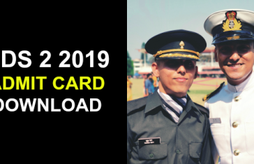 CDS 2 2019 ADMIT CARD DOWNLOAD