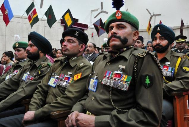 Highly decorated soldiers from the Indian Army