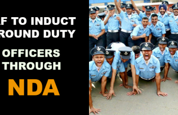Ground Duty Officers of the IAF To be recruited through NDA This year