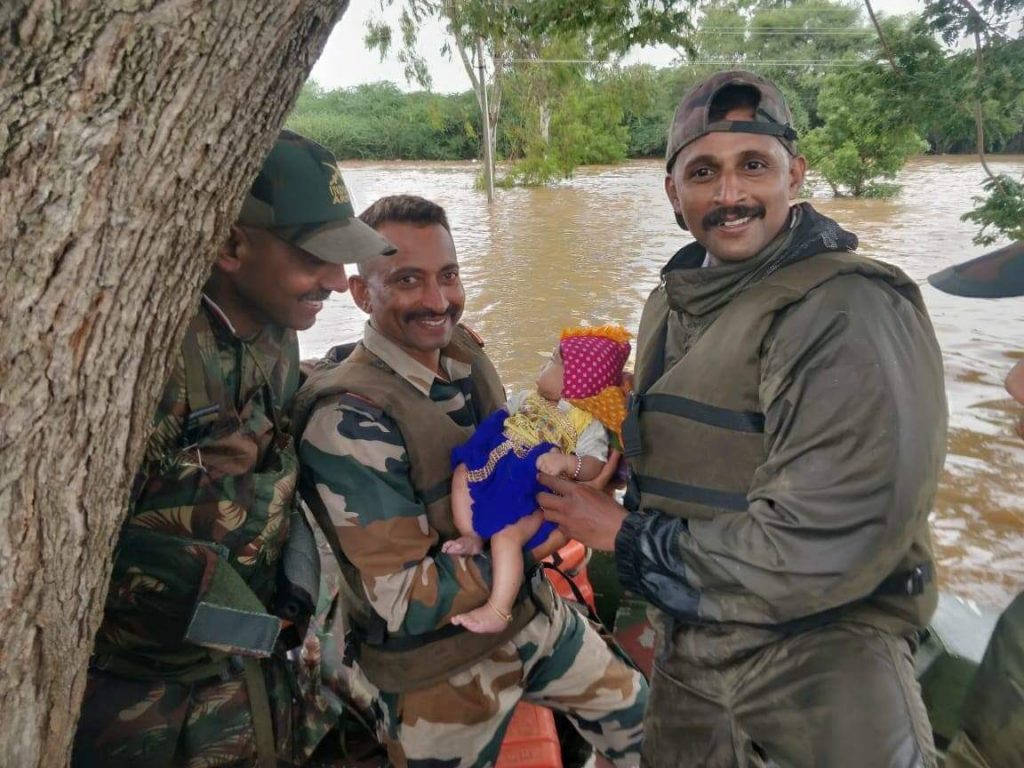 Army personnel save newborn