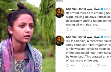 Shehla Rashid Insulted Indian Army