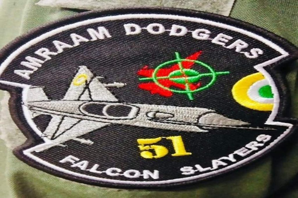 Abhinandan Inspired shoulder patch given to members of the 51 squadron