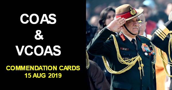 list COAS & VCOAS 2019