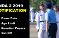 nda 2 2019 notification