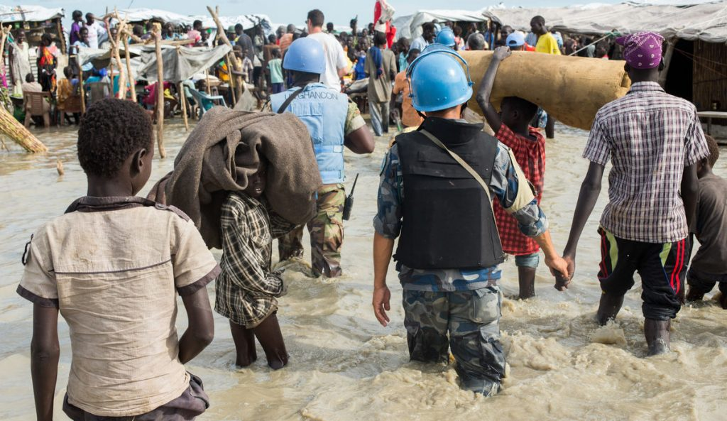 UN Peacekeepers in War torn Ivory coast