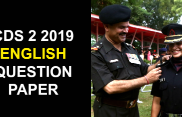 CDS 2 2019 ENGLISH QUESTION PAPER