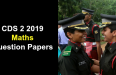 CDS 2 2019 Maths Question Papers