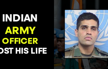 INDIAN ARMY OFFICER LOST HIS LIFE
