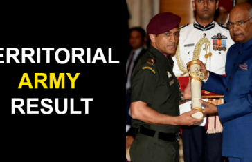 Territorial Army July 2019 Result - 2079 Candidates Cleared
