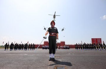 Indian Army Aviation Corps Conferred With Presidential Colours Today