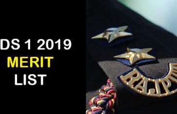 CDS-1-2019-Merit-List