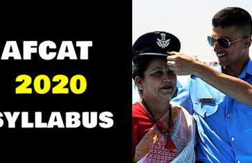 afcat-2020-syllabus