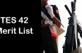 tes-42-merit-list