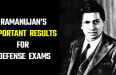 Ramanujan's 3 Important Results For Defense Exams