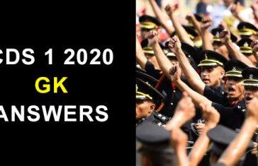 CDS-1-2020-gk-answers