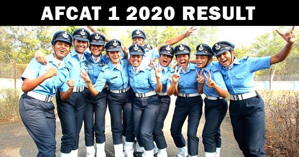 afcat 1 2020 result