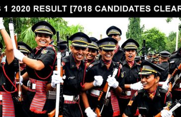 CDS 1 2020 Result [ 7018 Candidates Cleared ]