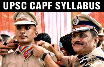 UPSC CAPF Assistant Commandant Syllabus