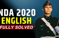 NDA 1 2020 NDA 2 2020 English Paper Fully Solved