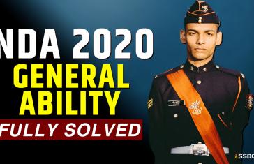 NDA 2020 GAT GK Paper Fully Solved