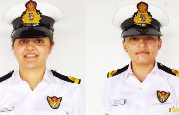 Sub-Lieutenant--Kumudini-Tyagi-&-Sub-Lieutenant-Riti-Singh