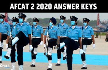 AFCAT 2 2020 Answer Keys [All Shifts]