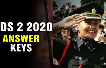 UPSC CDS 2 2020 Answer Keys [All Sets]