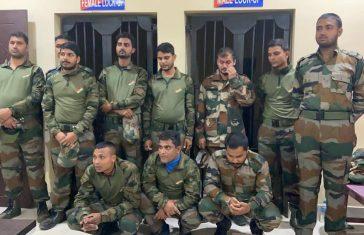 11 Fake Army Men Arrested In Guwahati