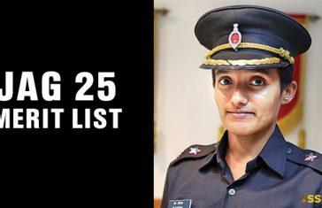 JAG 25 Merit List OTA Chennai