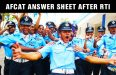 AFCAT Answer Sheet  Provided After RTI