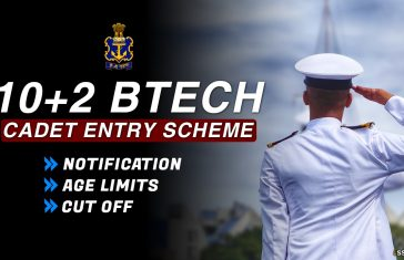 10+2 Btech Cadet Entry Scheme Indian Navy Notification 2021