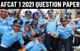 AFCAT 1 2021 Question Paper 20 21 22 February 2021