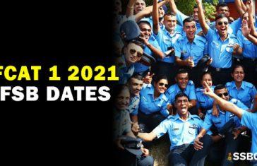 AFCAT 1 2021 AFSB Interview Dates and Venue