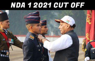 NDA 1 2020 Cut Off Marks Published